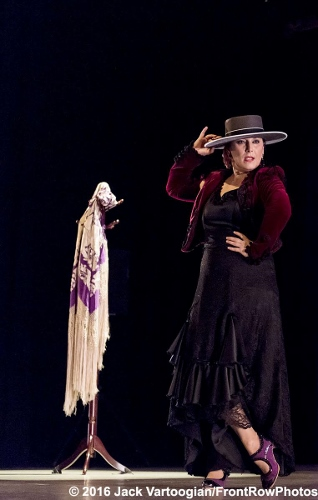 Spanish Flamenco dancer La Lupi (born Susana Lupianez Pinto) performs with her company at a World Music Institute 'Festival Ay! Mas Flamenco' concert at Symphony Space, New York, New York, Saturday, March 5, 2016.