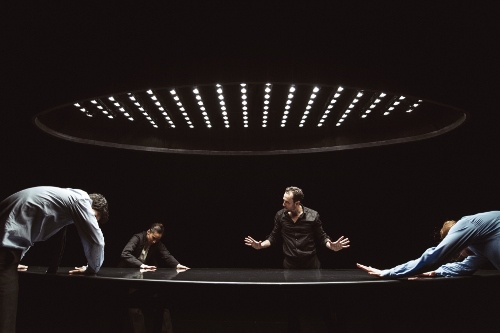 NDT1. The Statement by Crystal Pite. Dancers: Jon Bond, Rena Narumi, Fernando Hernando Magadan, Imre van Opstal.
