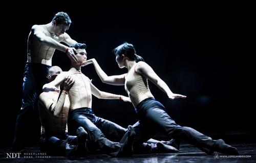 NDT2. Handman by Edward Clug. Dancers: Aya Misaki , Benjamin Behrends, Graham Kaplan, Guido Dutilh.