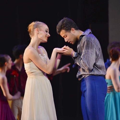 Cleveland Ballet's Lauren Stenroos as Swanilda and Nicholas Montero as Franz in Ramón Oller's 'Coppélia.'