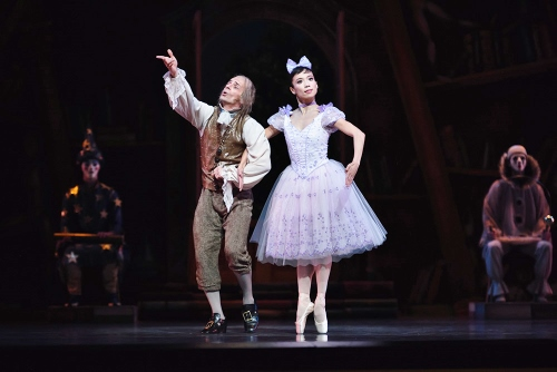 Pascal Molat as Dr. Coppelius and Frances Chung as Coppelia.