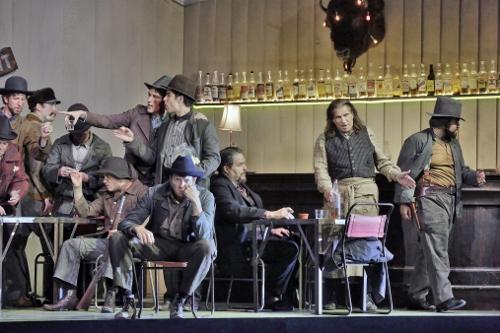 The cast of 'La Fanciulla del West' (Girl of the Golden West).