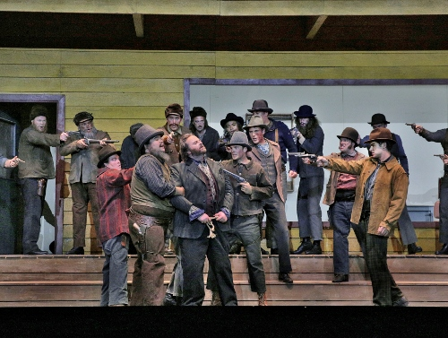 The cast in 'La Fanciulla del West' (Girl of the Golden West).
