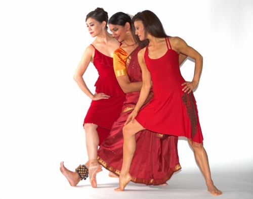 "(Left to right) Karen Gabay, Rasika Kumar, Maria Basile, choreographers of ""Goddesses and…""."