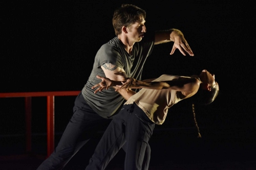 Damien Highfield and Felise Bagley in Adam Barruch's 'Hex.'