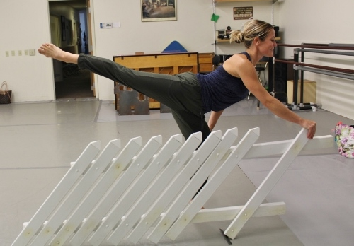 """GroundWorks DanceTheater's Lauren Garson rehearsing Beth Corning's """"At Once There Was a House."""""""