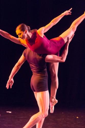 BalletMet's Adrienne Benz and Carolina Ballet's Marcelo Martinez in Jimmy Orrante's 'Imperfections.'