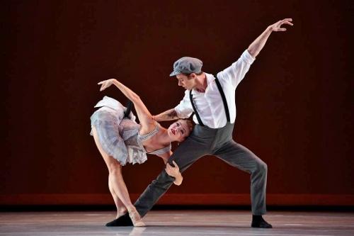 "Smuin Contemporary American Ballet's Erica Felsch and Benjamin Warner in Garret Ammen's ""Madness, Rack, and Honey."""