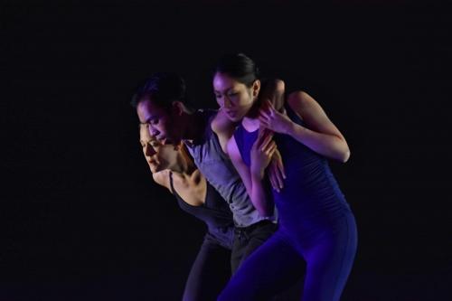 (L-R) GroundWorks' Lauren Garson, Michael Marquez and Stephanie Terasaki in Robyn Mineko Williams' 'Part Way.'