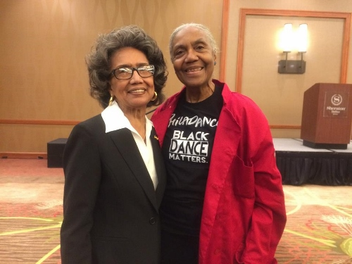 Joan Myers Brown and Brenda Dixon Gottschild at the 2017 IABD Conference in Dallas.