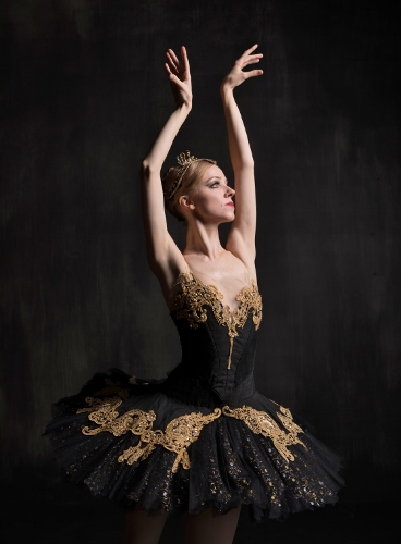 Pittsburgh Ballet Theatre's Amanda Cochrane as the black swan Odile in 'Swan Lake' coming Feb. 16-25, 2018