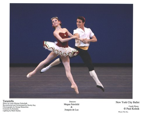 Megan Fairchild and Joaquin de Luz in NYCB's Tarantella