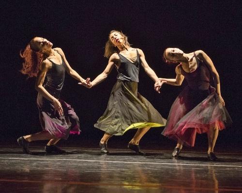 "Malpaso dancers in Trey McIntyre's ""Under Fire."""