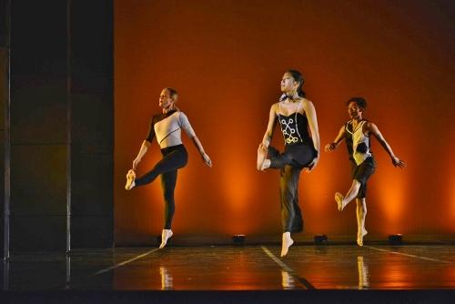 "(L-R) GroundWorks' Lauren Garson, Stephanie Terasaki and Michael Marquez in David Shimotakahara's ""Chromatic."""