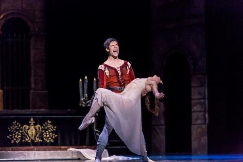 "BalletMet's David Ward and Adrienne Benz in Edwaard Liang's ""Romeo and Juliet."""