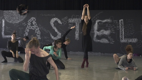 Bobbi Jene rehearsing with Batsheva Dance company in Tel Aviv.