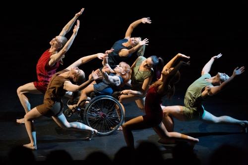 Dancing Wheels dancers in Catherine Meredith's 'Incommunicado' (2015).