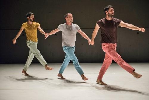 "Roy Assaf Dance<br>""The Hill""<br>Pictured L-R: Avshalom Latucha, Igal Furman, Roy Assaf."