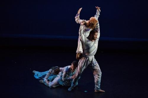 """Dancing Wheels dancers in Daniel Job's """"Above"""" (1991)."""