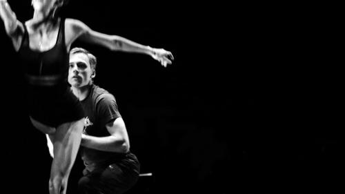 """From 2017's 'The Benefit': Miami City Ballet principal soloist Lauren Fadeley and BalletMet's Michael Sayre in Attila Bongar's """"63."""""""