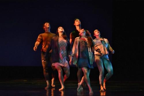 "GroundWorks' dancers in David Shimotakahara's ""Salt to Sea."""