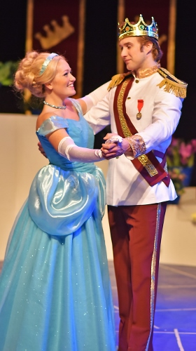 Cinderella (Emily Hollowell) and Prince Charming (Will Leonard) dance at the ball in Beef & Boards Dinner Theatre's production of Cinderella, now on stage through March 17. The first show of the 2018 Live Theatre for Kids series presented by the Pyramid Players, this adaptation of the classic tale is told in a fast-paced, tuneful comedy. Pyramid Players productions are one hour in length and presented without intermission. Performances are for all ages, but offered particularly for children in preschool through sixth grade. Children have the opportunity to meet the cast after each show for pictures and autographs. Performances take place at 10 a.m. on Fridays and at 10 a.m. and 1 p.m. on Saturdays. All tickets are $16.50 and include a snack. For reservations, contact the box office at 317.872.9664. For more information or complete show schedule, visit www.beefandboards.com.
