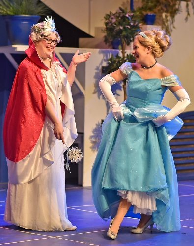 Cinderella (Emily Hollowell) is amazed at her transformation, courtesy of her Fairy Godmother (Rebecca DeVries McConnell) – complete with glass slippers – in Beef & Boards Dinner Theatre's production of Cinderella, now on stage through March 17. The first show of the 2018 Live Theatre for Kids series presented by the Pyramid Players, this adaptation of the classic tale is told in a fast-paced, tuneful comedy. Pyramid Players productions are one hour in length and presented without intermission. Performances are for all ages, but offered particularly for children in preschool through sixth grade. Children have the opportunity to meet the cast after each show for pictures and autographs. Performances take place at 10 a.m. on Fridays and at 10 a.m. and 1 p.m. on Saturdays. All tickets are $16.50 and include a snack. For reservations, contact the box office at 317.872.9664. For more information or complete show schedule, visit www.beefandboards.com.