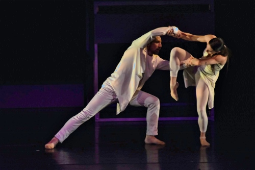 GroundWorks DanceTheater's Damien Highfield and Taylor Johnson in James Gregg's 'éveillé.'