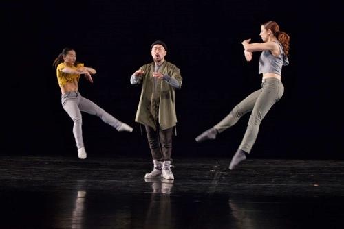 """Triptych: Experience in Defiance"" - (L-R) Ellen Akashi, spoken word artist Jason Chu and Camila Arana."
