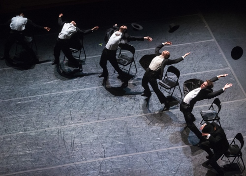 Charlotte Ballet dancers in Ohad Naharin's 'Minus 16'.