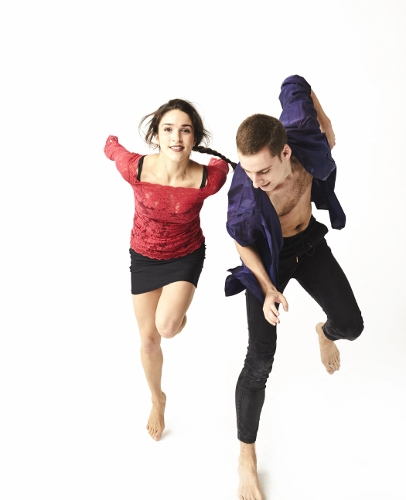 GroundWorks DanceTheater's Gemma Freitas Bender and Tyler Ring.
