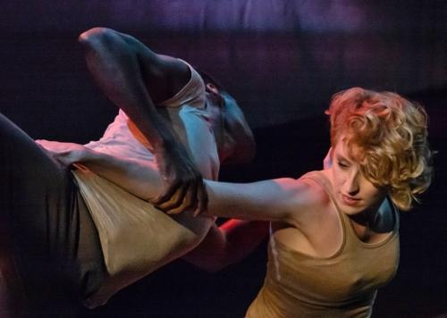 """Memory Object,"" choreography by Elizabeth Shea. Dancers: Rachel Newbrough and Justin Sears-Watson."