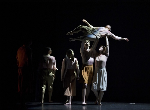 """A Shadow Passes,"" choreography by Stephanie Nugent. Dancers: Julia Dorf, Amanda Hoover, Katie Lea, Jay Man, Elise Young."
