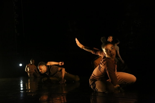 "A.I.M's Jeremy ""Jae"" Neal and Marcella Lewis in Kyle Abraham's '""Meditation: A Silent Prayer'."