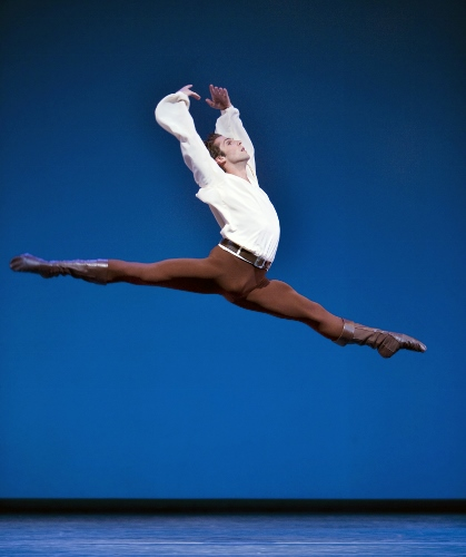 Pacific Northwest Ballet principal dancer Lucien Postlewaite in Jerome Robbins' 'Dances at a Gathering'.