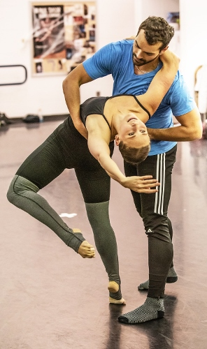 Emily Dyson and Timothy June rehearsing 'Sophisticated Ellington.'