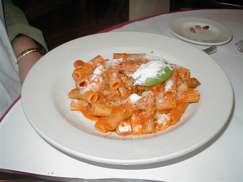 Stuffed Rigatoni in Tomato Sauce