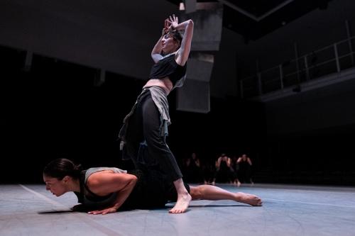 Heather Arnett, below, and Anna Greenberg in Kristin Damrow's IMPACT.