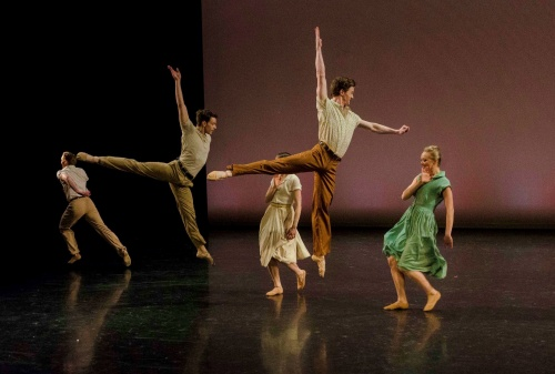 Levi Teachout, Nathan Young, and Adriana Wagenveld in James Sofranko's 'The Sweet By and By'.
