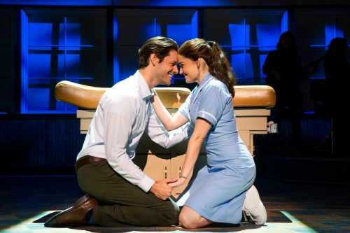 Steven Good and Christine Dwyer in the National Tour of 'WAITRESS'.