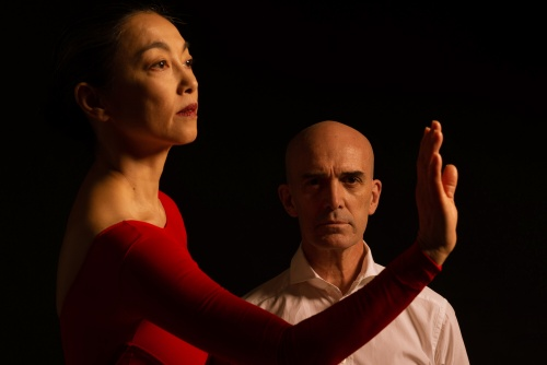 "Miki Orihara and Stephen Pier in Colin Connor's ""The Weather in the Room""."