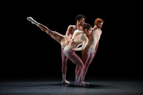 (L-R) Malpaso Dance Company's Armando Gomez, Dunia Acosta and Beatriz Garcia in Beatriz Garcia's 'Being (Ser)'.