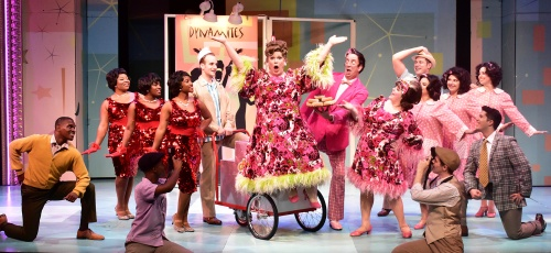 "The cast performs ""Welcome To The '60s"" in Beef & Boards Dinner Theatre's production of Hairspray, now on stage through Oct. 6. Broadway's big, bold, beautiful hit won eight Tony Awards, including Best Musical."