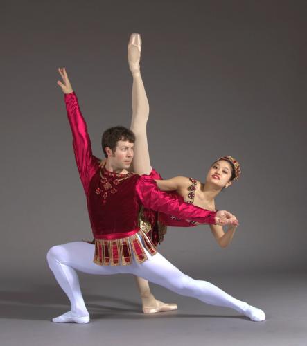 'Rubies'<br>Choreography by George Balanchine<br>Dancers: Chris Lingner and Yoshiko Kamikusa