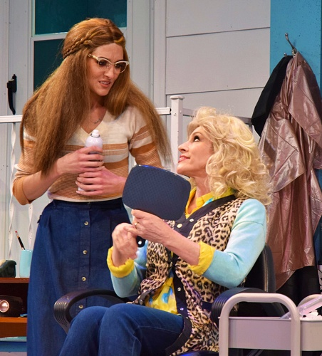 Annelle (Morgan Jackson), left, tells her prospective new employer Truvy (Deb Wims) that her work is 'poofier' than normal because she's nervous in Beef & Boards Dinner Theatre's production of 'Steel Magnolias.'