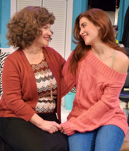 M'Lynn (Diane Kondrat) shares a moment with her daughter Shelby (Lari White) in Beef & Boards Dinner Theatre's production of 'Steel Magnolias.'