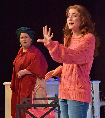 Shelby (Lari White), at right, tells her mother M'Lynn (Diane Kondrat) how she imagines life will be after her baby is born in Beef & Boards Dinner Theatre's production of 'Steel Magnolias.'