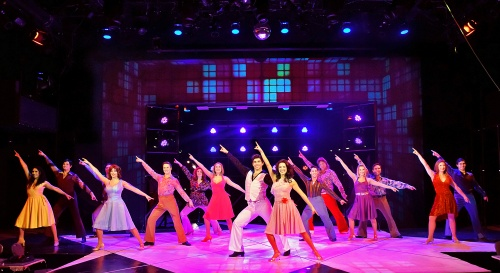 "The cast of in Saturday Night Fever performs ""Night Fever"" at Beef & Boards Dinner Theatre. This disco-mania musical is based on the famous film, and is on stage through March 29."