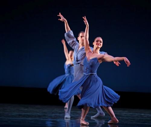 "Verb Ballets Elizabeth 'Betsie' Schaeffer and Antonio Morillo in Kay Eichman's ""Mendelssohn Italian Symphony""."