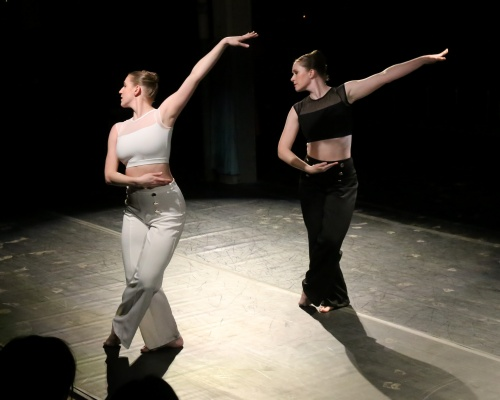 "Amanda Fisher and Melissa Tyler in Maria Caruso's ""Mentality Toiled Empathy""."